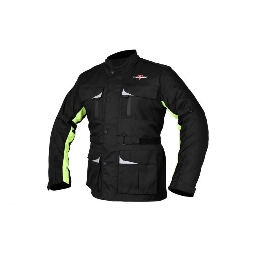 Motor bike jacket black-fluoride Tornado